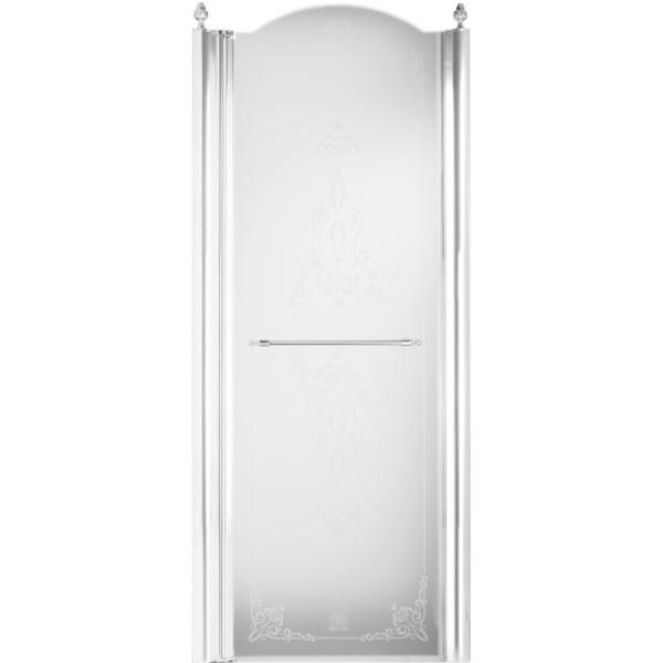 Душевая дверь в нишу Migliore Diadema 80x203 R профиль Бронза стекло Прозрачное с декором душевая дверь в нишу migliore diadema 80x195 l профиль бронза стекло прозрачное