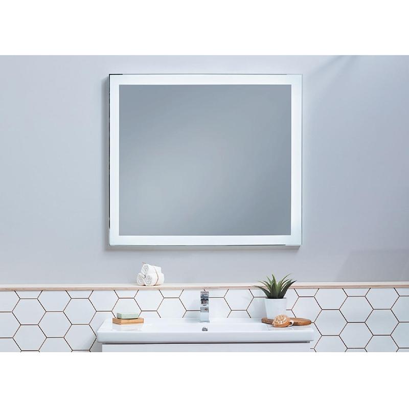 Зеркало Dreja Kvadro 100х85 с LED подсветкой Белое зеркало dreja uni 85