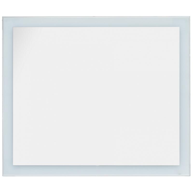 Фото - Зеркало Dreja Kvadro 100х85 77.9013W с подсветкой Белое зеркало dreja kvadro 77 9011w