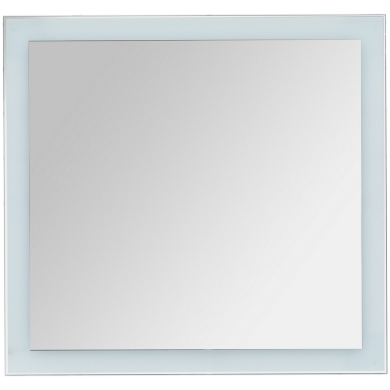 Фото - Зеркало Dreja Kvadro 80х85 77.9012W с подсветкой Белое зеркало dreja kvadro 77 9011w