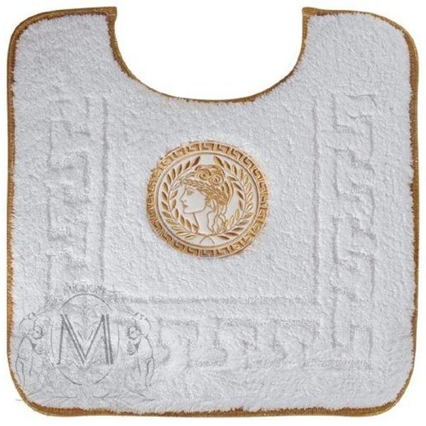 Коврик для ванной комнаты Migliore Complementi 60x60 с вышивкой Афина Белый декор золото