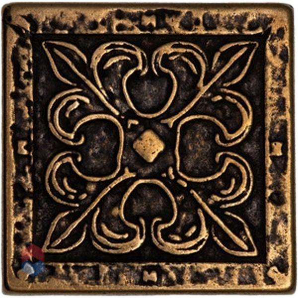 Керамическая вставка Emigres Riga Вензель-бронза 5х5 см салфетки томдом вензель