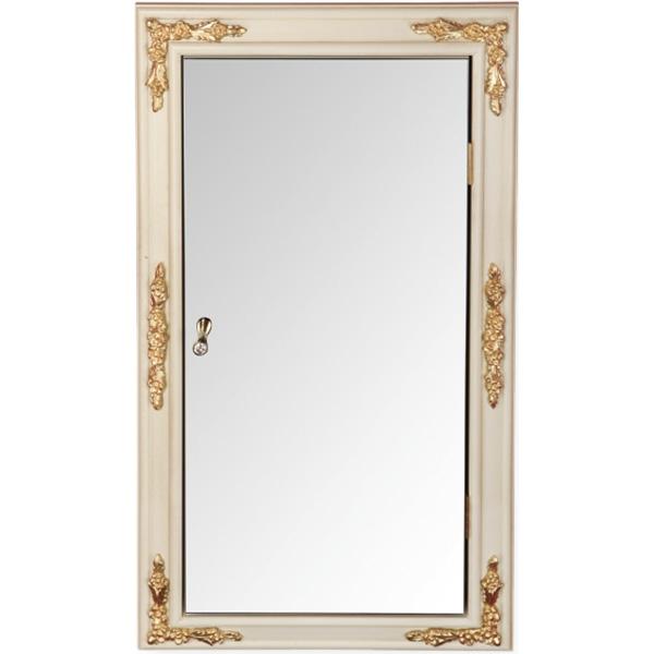 Зеркальный шкаф Migliore CDB 45 ML.COM-70.772 угловой R Слоновая кость с золотом