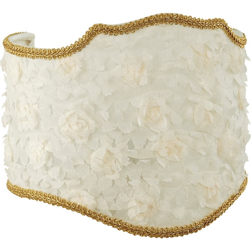Абажур для светильника Migliore Complementi Rosa 690.25 Белый Золото