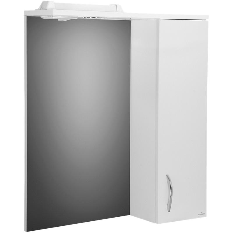 цена Зеркало со шкафом Cersanit Erica 60 с подсветкой R Белый F-LS-ERN60-OS онлайн в 2017 году