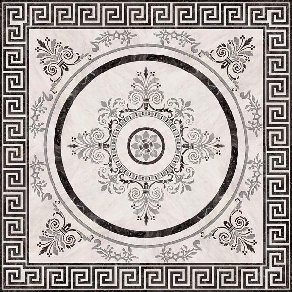 Керамическая плитка Absolut Keramika Nero Roseton 4 напольная 45х45 см стоимость