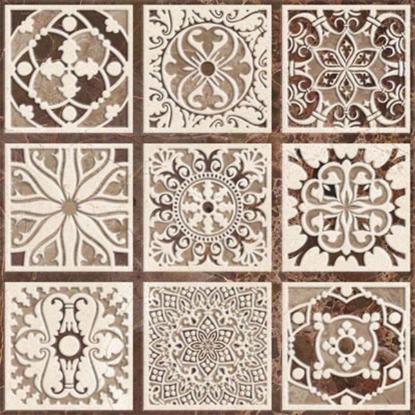 Керамическая вставка Absolut Keramika Venecia Taco 6х6 см керамогранит absolut keramika metalic beni sano 6x6 вставка