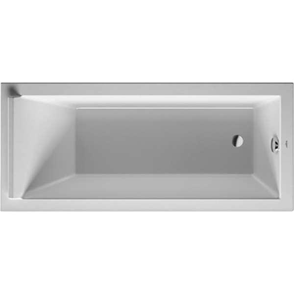 Акриловая ванна Duravit Starck 170x75 без гидромассажа акриловая ванна duravit starck tubs showers 700009000000000 180x80