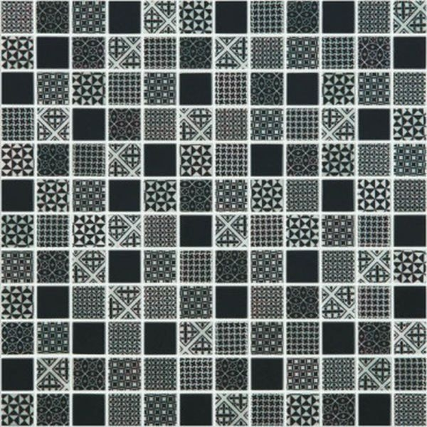 Стеклянная мозаика Vidrepur Born Black Черный 31,7х31,7 см стеклянная мозаика vidrepur fire glass 107 31 7х31 7 см