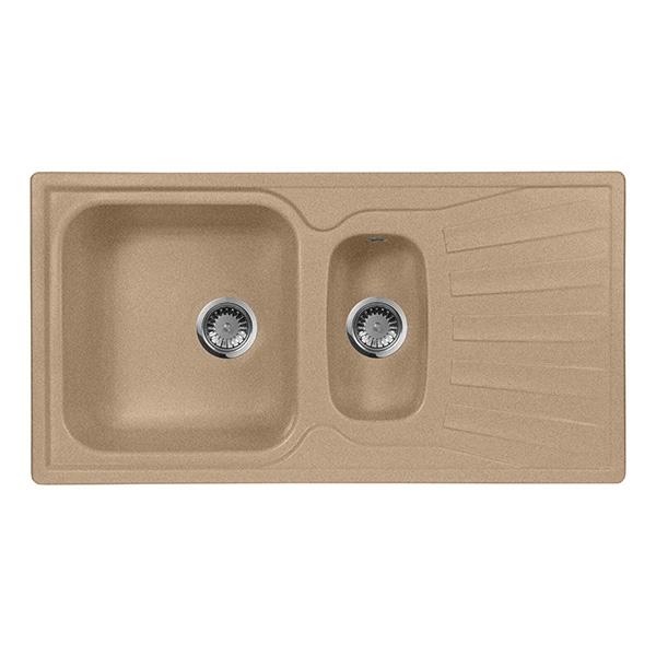 цена Кухонная мойка AquaGranitEx M-09K Терракот онлайн в 2017 году