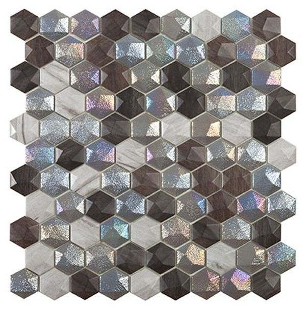 Стеклянная мозаика Vidrepur Hex Forest Mix 30,7х31,7 см стеклянная мозаика vidrepur hex woods 4700 30 7х31 7 см
