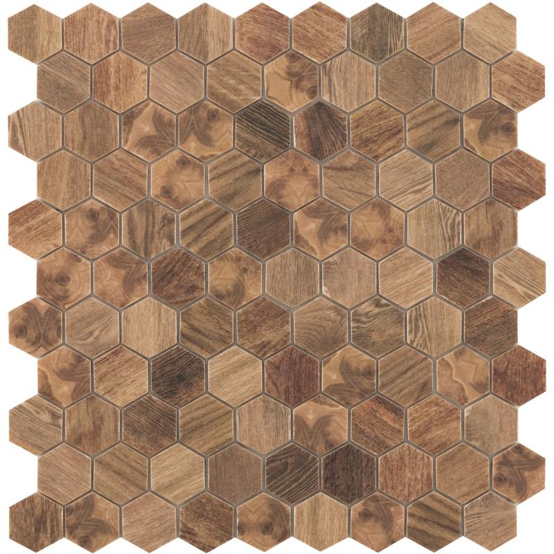 Стеклянная мозаика Vidrepur Hex Woods № 4700 30,7х31,7 см стеклянная мозаика vidrepur hex woods 4700 30 7х31 7 см