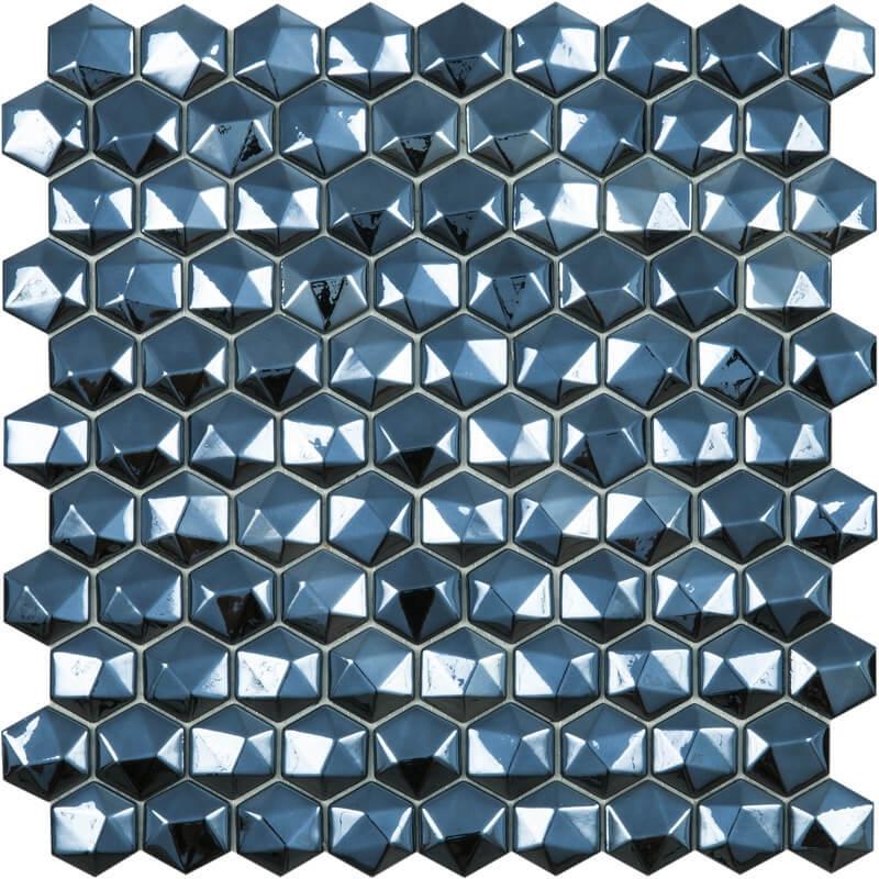 Стеклянная мозаика Vidrepur Hex Diamond № 358D Черный 30,7х31,7 см стеклянная мозаика vidrepur hex woods 4700 30 7х31 7 см