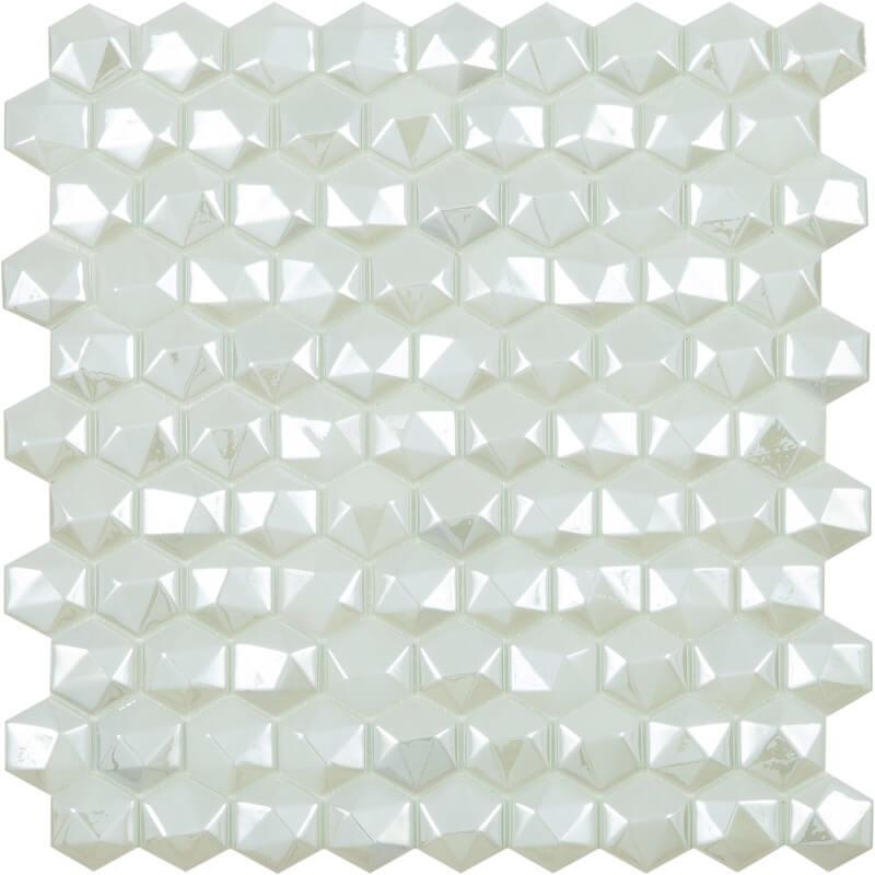 Стеклянная мозаика Vidrepur Hex Diamond № 350D Белый 30,7х31,7 см стеклянная мозаика vidrepur hex woods 4700 30 7х31 7 см