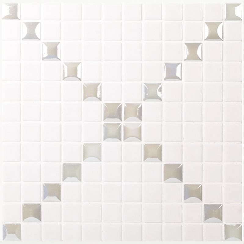 Стеклянная мозаика Vidrepur Mixed Trento Edna White 31,7х31,7 см