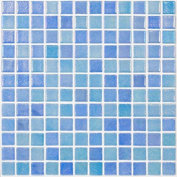 Стеклянная мозаика Vidrepur Shell Mix Blue 551/552 31,7х31,7 см