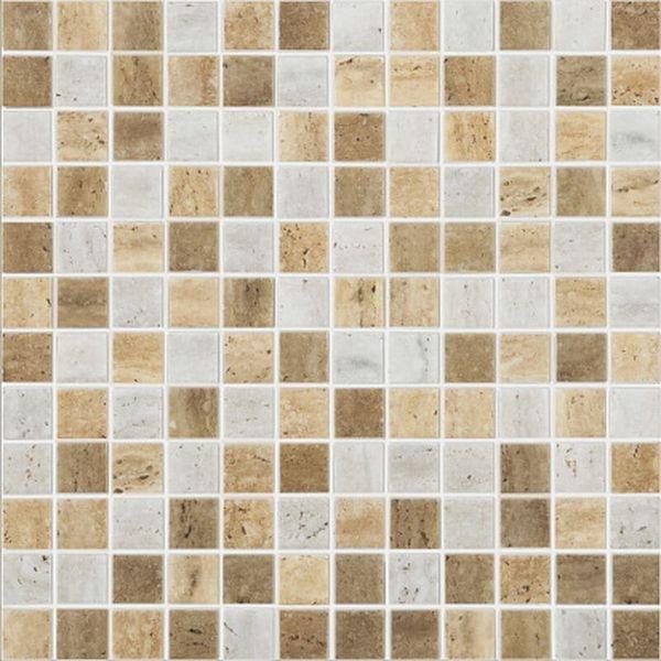 Стеклянная мозаика Vidrepur Stones Mix Travertino 31,7х31,7 см