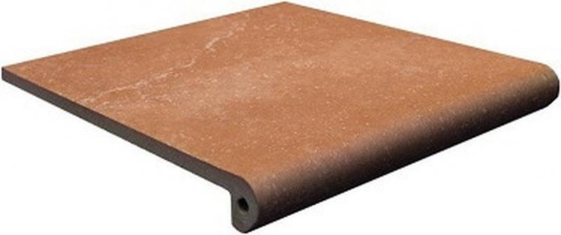 Ступень фронтальная Exagres Stone Peldano Brown 33х33 см керамогранит exagres stone gris flor 33х33 см