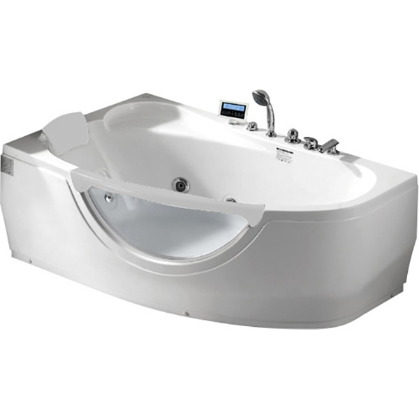 Фото - Акриловая ванна Gemy G9046 II K L 171x99 L с гидромассажем акриловая ванна gemy g9085 o l 180х116 l с гидромассажем