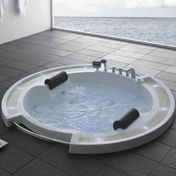 Акриловая ванна Gemy G9060 O 210х210 с гидромассажем цена