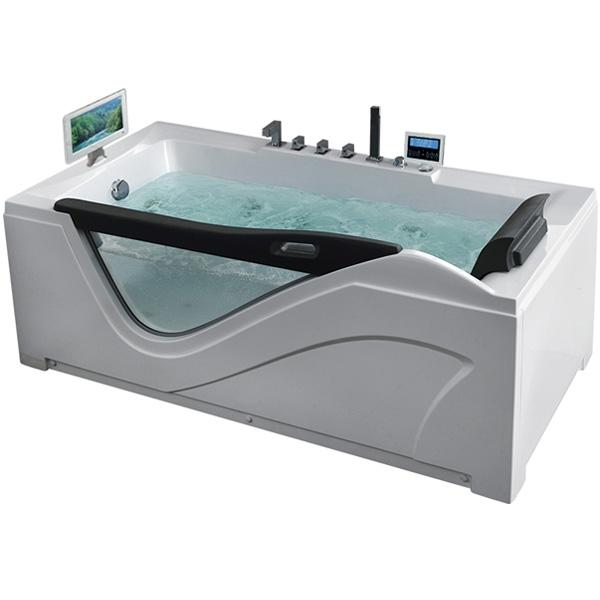 Фото - Акриловая ванна Gemy G9055 O L 181х92 L с гидромассажем акриловая ванна gemy g9085 o l 180х116 l с гидромассажем