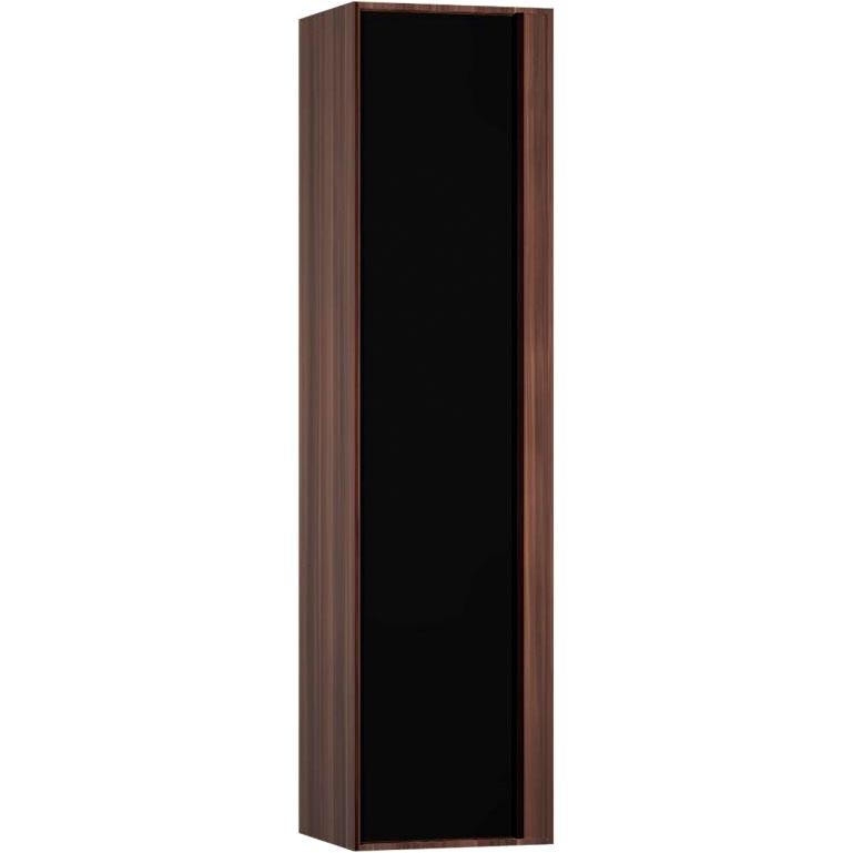 Шкаф пенал Vitra Metropole 40 L 58204 подвесной Сливовое дерево Черный шкаф пенал vitra d light 36 подвесной l белый матовый