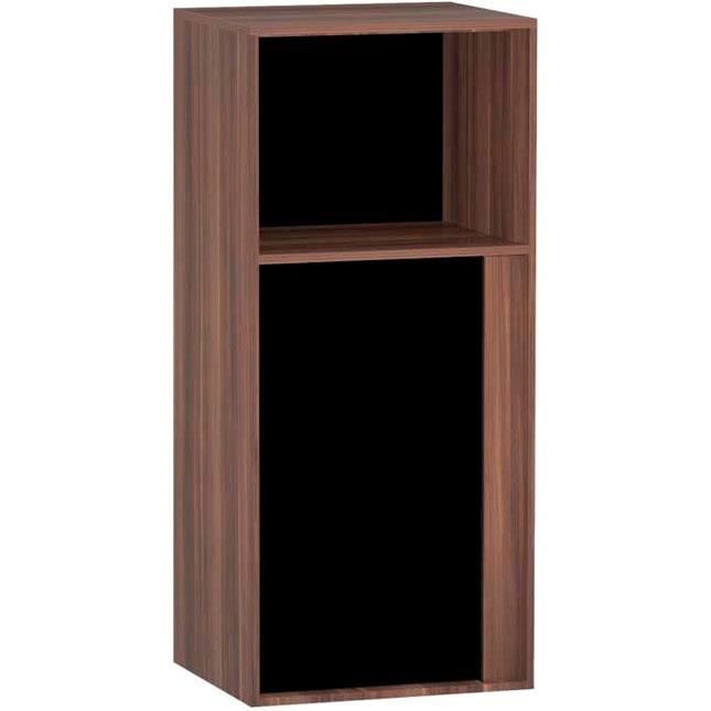 Шкаф пенал Vitra Metropole 40 L 58208 подвесной Сливовое дерево Черный зеркальный шкаф vitra metropole 100 с подсветкой сливовое дерево