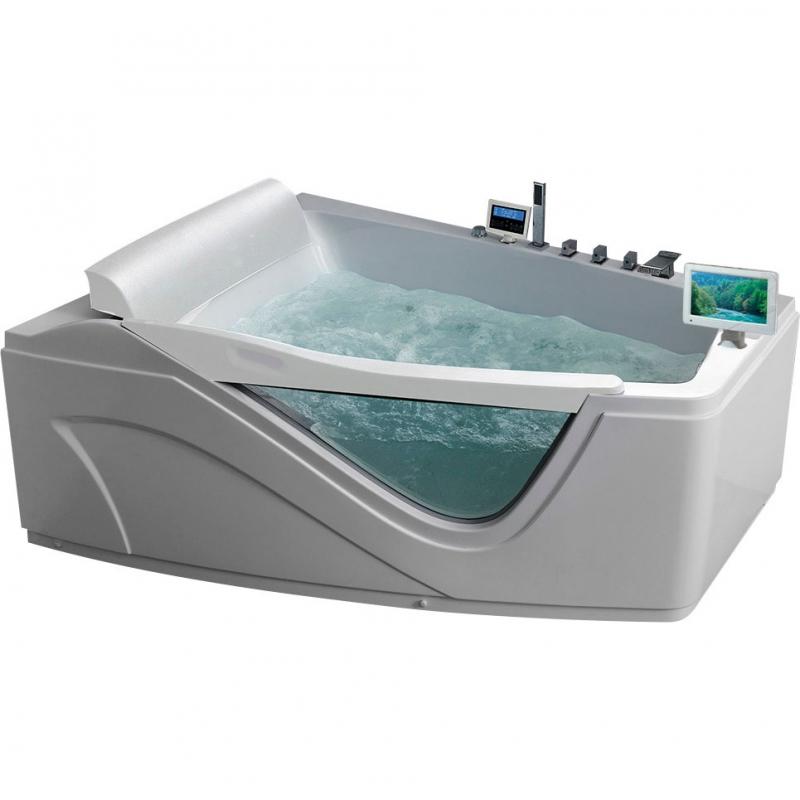 Фото - Акриловая ванна Gemy G9056 O L 170х130 L с гидромассажем акриловая ванна gemy g9085 o l 180х116 l с гидромассажем