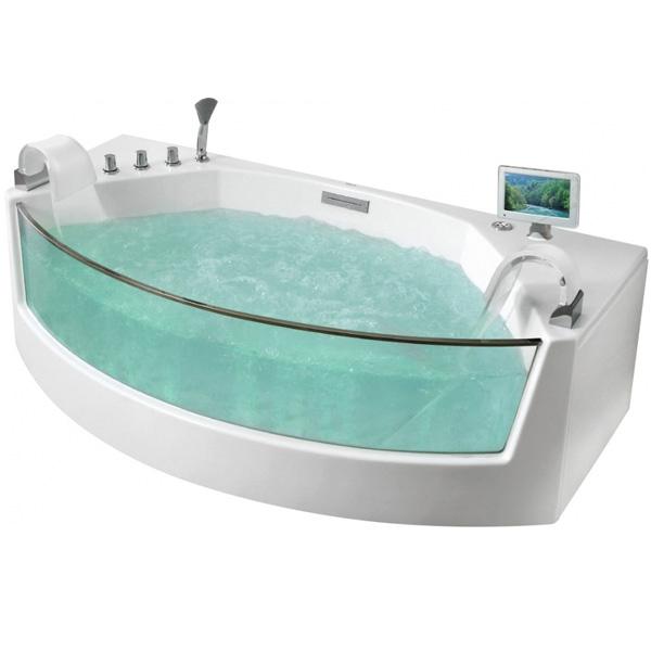 Акриловая ванна Gemy G9079 O 200х105 с гидромассажем