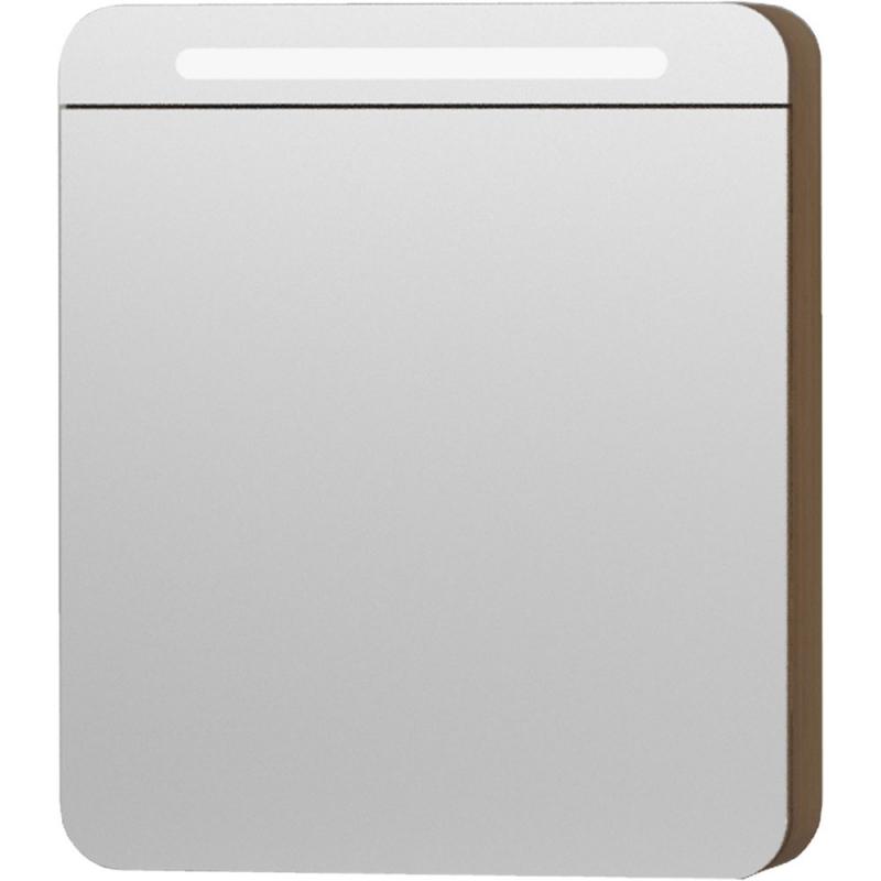 Зеркальный шкаф Vitra Nest Trendy 60 L 56172 с подсветкой Натуральная древесина зеркальный шкаф vitra metropole 100 с подсветкой сливовое дерево