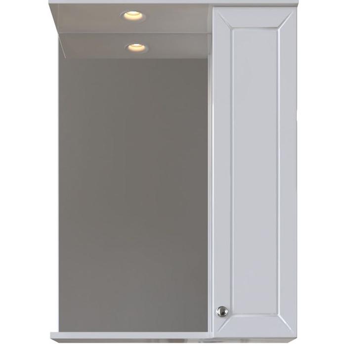 Зеркальный шкаф San Star Бриз 60 с подсветкой R Белый подвесной шкаф san star 60 белый