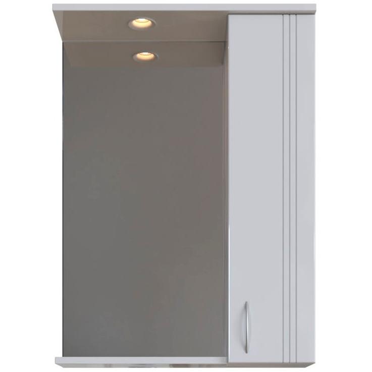 Зеркальный шкаф San Star Вольга 60 с подсветкой R Белый подвесной шкаф san star 60 белый