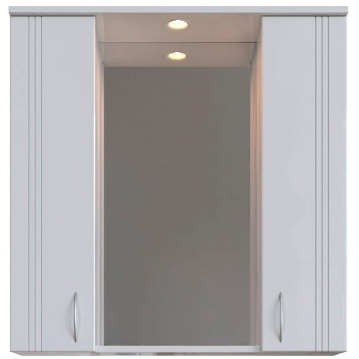 Зеркальный шкаф San Star Вольга 80 с подсветкой Белый зеркальный шкаф san star селена 80 с подсветкой белый