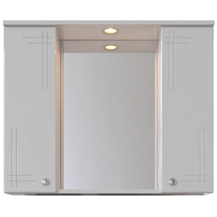 Зеркальный шкаф San Star Июнь 80 с подсветкой Белый зеркальный шкаф san star селена 80 с подсветкой белый