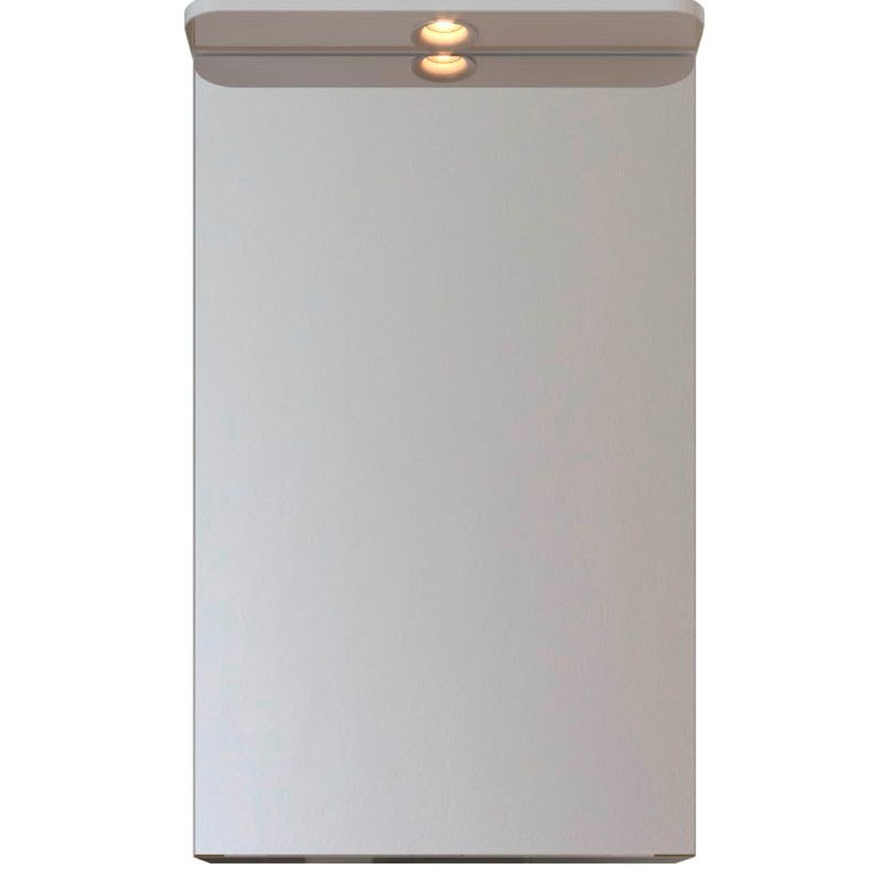 Зеркальный шкаф San Star 50 42.1-2.4.1. с подсветкой L Белый зеркальный шкаф bellezza лагуна 105 с подсветкой бежевый белый