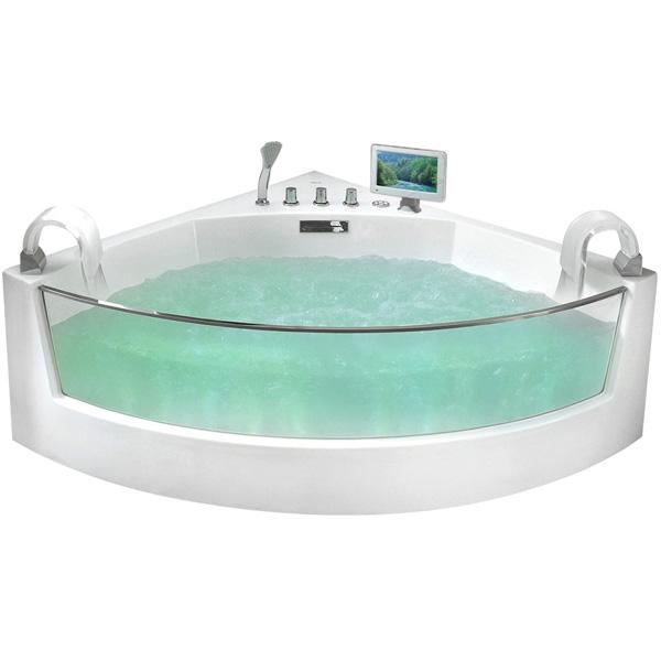 Акриловая ванна Gemy G9080 O 150х150 с гидромассажем цена