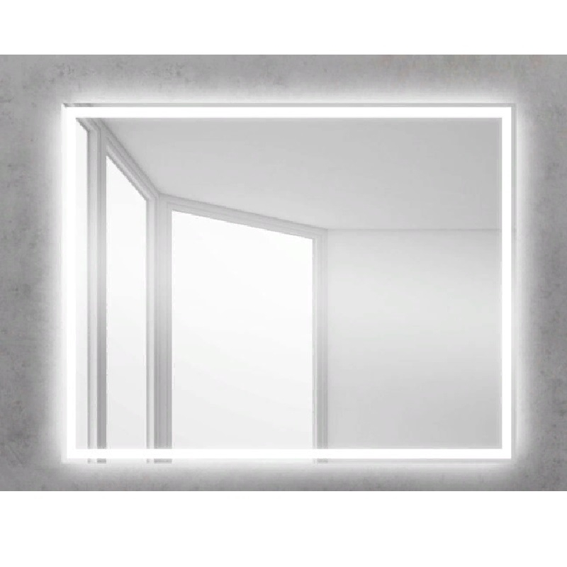 Зеркало BelBagno SPC-GRT 100 с кнопочным выключателем с подсветкой зеркало belbagno spc grt 120 с кнопочным выключателем с подсветкой