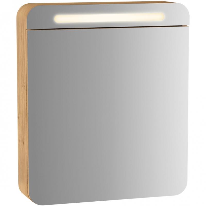 Зеркальный шкаф Vitra Sento 60 R 60894 с подсветкой L Дуб зеркальный шкаф vitra metropole 100 с подсветкой сливовое дерево