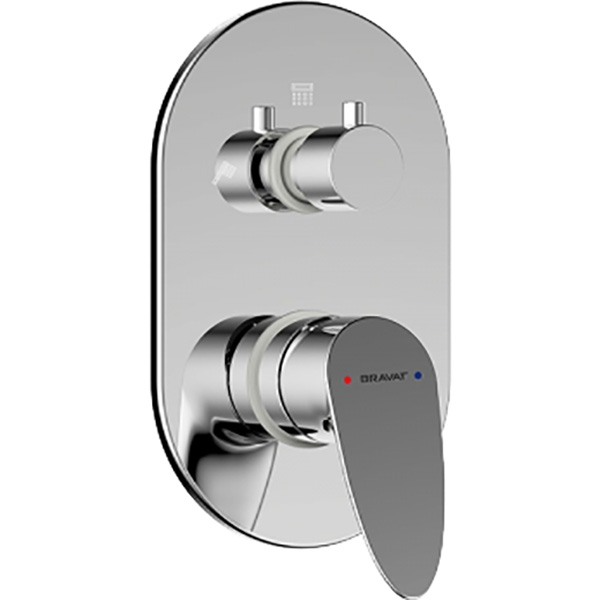 Смеситель для душа Bravat Drop P69190C-2-RUS Хром смеситель для душа bravat waterfall f939114c 01a rus хром