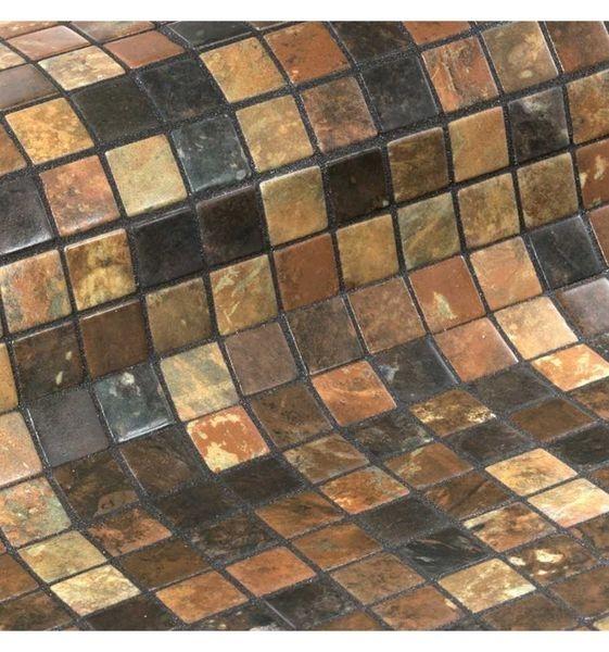 Стеклянная мозаика Ezarri Zen Riverstone 31,3х49,5 см стоимость