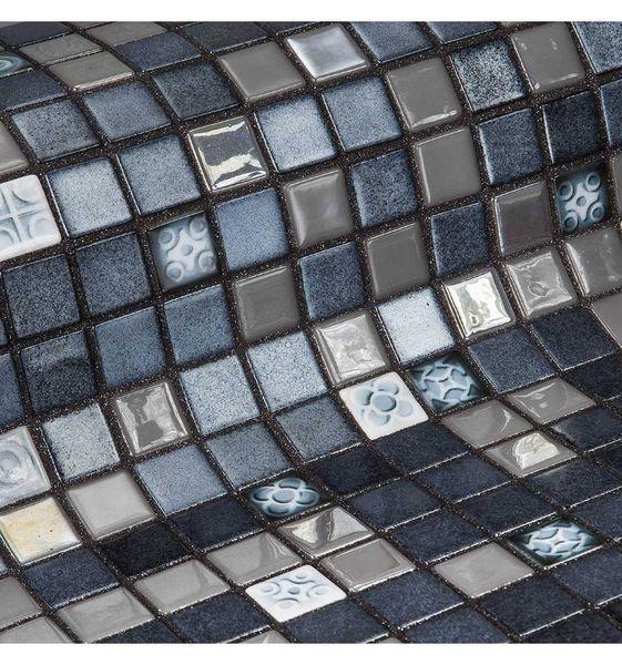 Стеклянная мозаика Ezarri Topping Silver bits 31,3х49,5 см