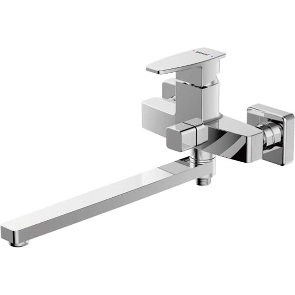 Смеситель для ванны Bravat Riffle F672106C-L универсальный Хром смеситель для ванны bravat riffle f672106c 01 хром