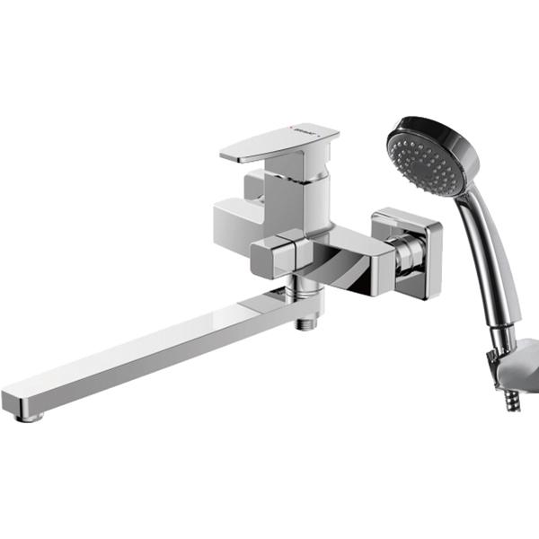 Смеситель для ванны Bravat Riffle F672106C-LB универсальный Хром смеситель для ванны bravat riffle f672106c 01 хром
