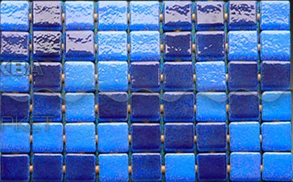 Стеклянная мозаика Ezarri Niebla 2577 – С 31,3х49,5 см