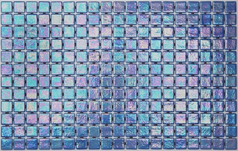 Стеклянная мозаика Ezarri Iris Ocean Anti 31,3х49,5 см мозаика из стекла для бассейна alma flicker nd909