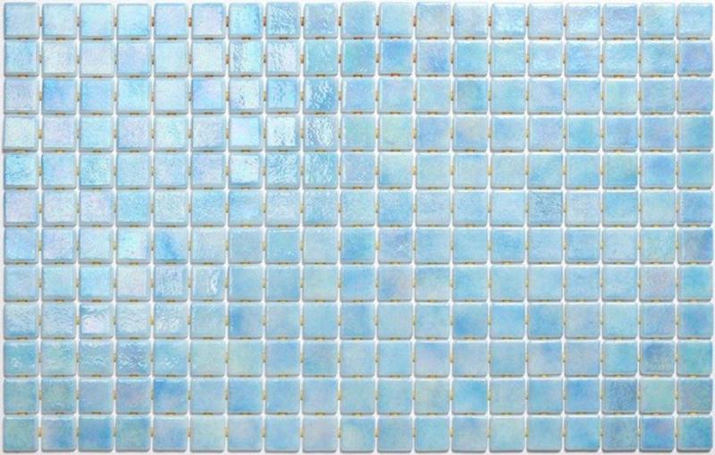 Стеклянная мозаика Ezarri Iris Azur Anti 31,3х49,5 см мозаика из стекла для бассейна alma flicker nd909