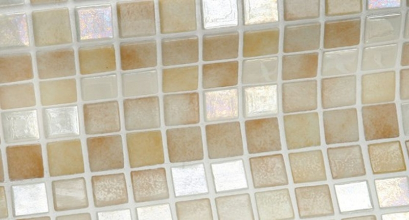 Стеклянная мозаика Ezarri Iris Mix Sahara 31,3х49,5 см