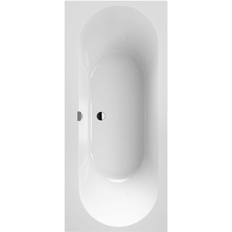 Квариловая ванна Villeroy&Boch Oberon 2.0 170x75 без гидромассажа ванна из искусственного камня jacob delafon elite 170x75 с щелевидным переливом e6d031 00 без гидромассажа