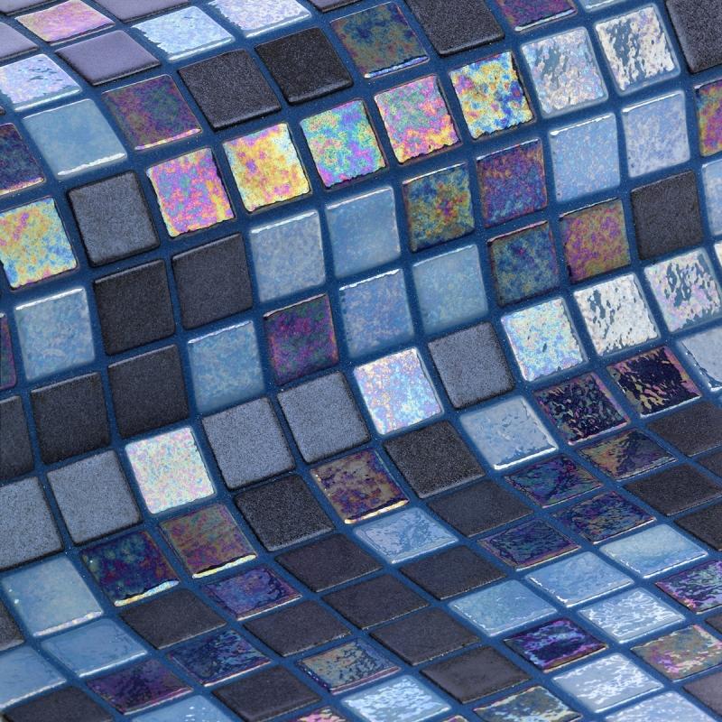 Стеклянная мозаика Ezarri Cocktail Blue Lagoon 31,3х49,5 см