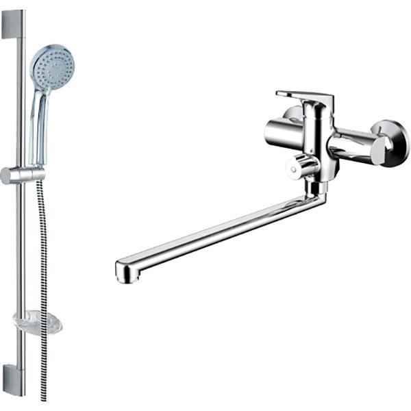 Смеситель для ванны Bravat Eler F00449CP универсальный Хром